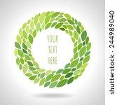 round floral frame | Shutterstock .eps vector #244989040