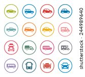 cars icon set | Shutterstock .eps vector #244989640