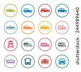 cars icon set | Shutterstock .eps vector #244989640