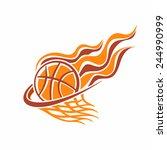 Vector Logo For A Basketball...