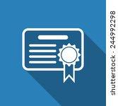 certificate icon | Shutterstock .eps vector #244992298