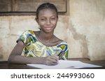 beautiful african teenage... | Shutterstock . vector #244993060