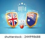 england vs australia  world cup ... | Shutterstock .eps vector #244998688