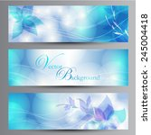 blue backgrounds with a flower | Shutterstock .eps vector #245004418