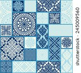 seamless background  patchwork... | Shutterstock .eps vector #245009560