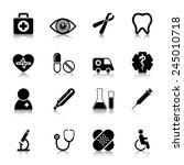medical icons set with... | Shutterstock .eps vector #245010718