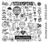 steampunk collection  hand... | Shutterstock .eps vector #245011309