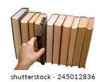 e book vs old books choice... | Shutterstock . vector #245012836