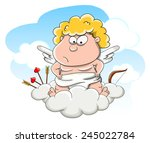 cute cartoon vector indignant... | Shutterstock .eps vector #245022784