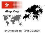 hong kong info graphic with... | Shutterstock .eps vector #245026504