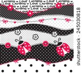 childish pattern with ladybug... | Shutterstock .eps vector #245030818