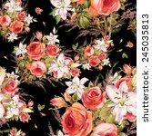 seamless pattern of a beautiful ... | Shutterstock . vector #245035813