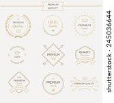 set of premium quality labels... | Shutterstock . vector #245036644