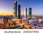 madrid  spain financial... | Shutterstock . vector #245037493