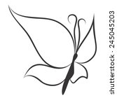butterfly | Shutterstock .eps vector #245045203