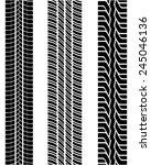 prints of tire  vector... | Shutterstock .eps vector #245046136