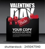 valentine's day sale shopping... | Shutterstock .eps vector #245047540