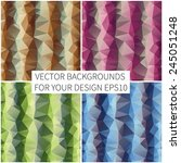 set of bright backgrounds.... | Shutterstock .eps vector #245051248