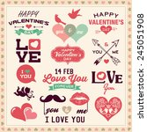 valentine's day typography ... | Shutterstock .eps vector #245051908