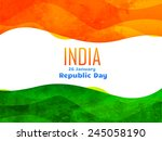 vector indian republic day... | Shutterstock .eps vector #245058190