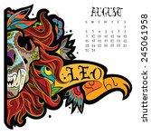 page astrological calendar.... | Shutterstock .eps vector #245061958