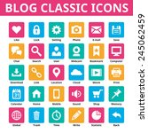 business blog classic icons.... | Shutterstock .eps vector #245062459