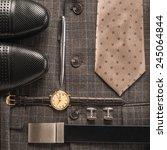 men accessories     Shutterstock . vector #245064844
