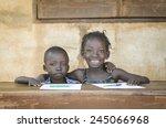 smiling black children  african ... | Shutterstock . vector #245066968