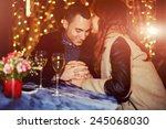 couple having dinner with... | Shutterstock . vector #245068030