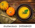 homemade autumn butternut... | Shutterstock . vector #245068420