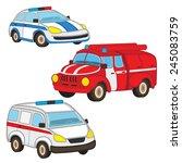 police fire ambulance   vector... | Shutterstock .eps vector #245083759