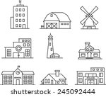 real estate and government... | Shutterstock .eps vector #245092444