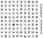 100 award icons  black on... | Shutterstock .eps vector #245092513