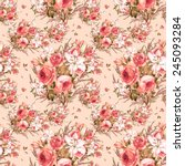 seamless pattern of a beautiful ... | Shutterstock . vector #245093284