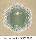 elegant lace gentle background. ... | Shutterstock . vector #245093818