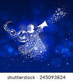 christmas angel  | Shutterstock . vector #245093824