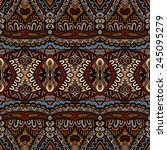 vector ethnic abstract seamless ... | Shutterstock .eps vector #245095279
