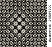 black and white floral pattern. ... | Shutterstock .eps vector #245095300
