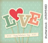 valentine s day card  ... | Shutterstock .eps vector #245095483