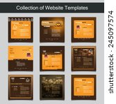 collection of website templates ... | Shutterstock .eps vector #245097574