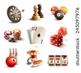 game realistic icons set with... | Shutterstock .eps vector #245097976
