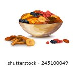 dried fruits bowl composition... | Shutterstock .eps vector #245100049