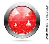 radar icon. internet button on... | Shutterstock .eps vector #245110834