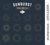 'sunburst Palooza' Set Of Retr...