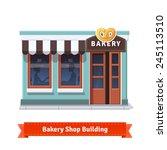 Bakery Shop Building  Facade...