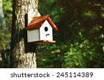 White Bird House On The Pine...