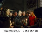 athens greece jan 18  a... | Shutterstock . vector #245115418