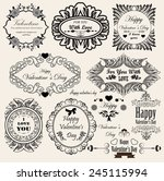 set of vintage frames for your... | Shutterstock .eps vector #245115994