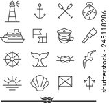 set of nautical icons and... | Shutterstock .eps vector #245118286