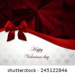 valentine greeting card | Shutterstock .eps vector #245122846